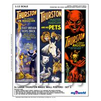 Dolls House Miniature Thurston Magic Poster Set 1 - 3 Long Posters