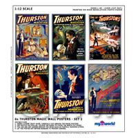 Dolls House Miniature Thurston Magic Poster Set 2 - 6 Posters