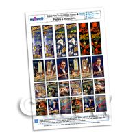 Dolls House Miniature Complete Set Thurston Magic Posters A4 Value Sheet
