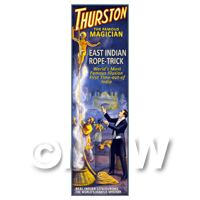 Dolls House Miniature Thurston Magic Poster - Indian Rope Trick