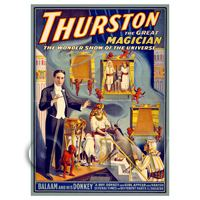 Dolls House Miniature Thurston Magic Poster - Balaam And His Donkey
