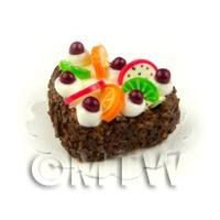 Miniature 22mm White Iced Heart Cake