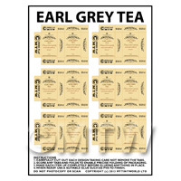 Dolls House Miniature Packaging Sheet of 6 Twinings Earl Grey