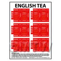 Dolls House Miniature Packaging Sheet of 6 Twinings English Tea