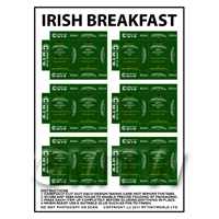 Dolls House Miniature Packaging Sheet of 6 Twinings Irish Breakfast