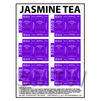 Dolls House Miniature Packaging Sheet of 6 Twinings Jasmine Tea