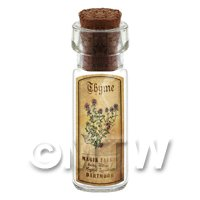 Dolls House Apothecary Thyme Herb Short Colour Label And Bottle