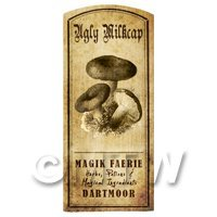 Dolls House Miniature Apothecary Ugly Milk Cap Fungi Label