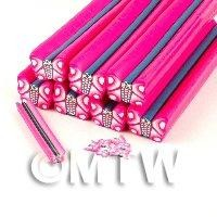 Unbaked Pink Butterfly Cane Nail Art And Jewellery UNC01