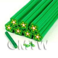 Dolls House Miniature - Unbaked Green Flower Cane Nail Art And Jewelry UNC08