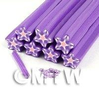 Unbaked Purple Flower Cane Nail Art And Jewellery UNC10
