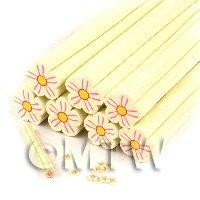 Unbaked Cream Flower Cane Nail Art And Jewellery UNC14