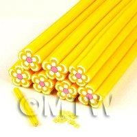 Unbaked Yellow Flower Cane Nail Art And Jewellery UNC15