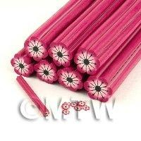 Dolls House Miniature - Unbaked Pink Flower Cane Nail Art And Jewellery UNC16