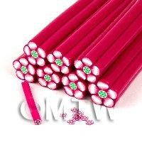 Unbaked Red Flower Cane Nail Art And Jewellery UNC18