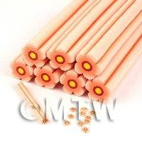 Unbaked Peach Flower Cane Nail Art And Jewellery UNC19