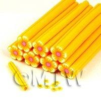 Unbaked Orange Flower Cane Nail Art And Jewellery UNC22