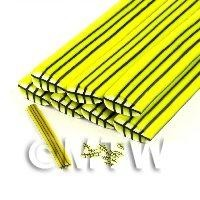 Unbaked Yellow Leaf Cane Nail Art And Jewellery UNC31