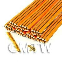 Unbaked Orange Leaf Cane Nail Art And Jewellery UNC32