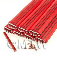 Unbaked Red Leaf Cane Nail Art And Jewellery UNC33