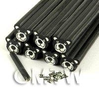 Unbaked Black Bear Cane Nail Art And Jewellery UNC39
