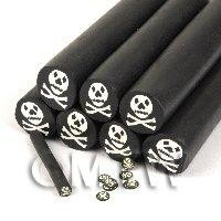 Unbaked Skull And Crossbones Cane Nail Art And Jewellery UNC41