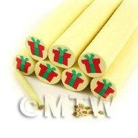 Unbaked Christmas Presents Cane Nail Art And Jewellery  UNC43