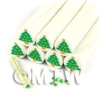 Unbaked Christmas Tree Cane Nail Art And Jewellery UNC44