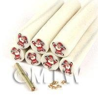 Unbaked Father Christmas Cane Nail Art And Jewellery UNC48