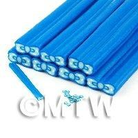 Unbaked Light Blue Bow Cane Nail Art And Jewellery UNC64