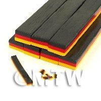 Dolls House Miniature - Unbaked German Flag Cane Nail Art And Jewelry UNC74