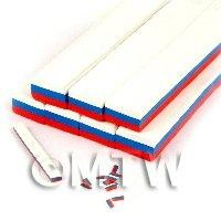 Unbaked Russian Flag Cane Nail Art And Jewellery UNC76