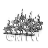 6 Dolls House Miniature Unpainted Metal Bengal Lancers