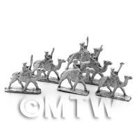 6 Dolls House Miniature Unpainted Metal Mahdist Camelry