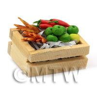 Dolls House Miniature Crate of Mixed Veg