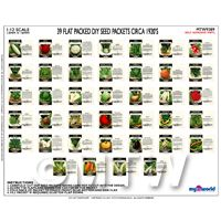 Set of 39 Dolls House Miniature Seed Packets (SPS10)