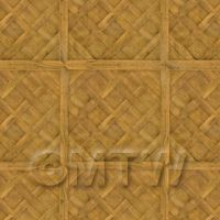 Dolls House Versailles Large Panel Parquet With Cross Frame Floor