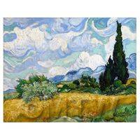 Van Gogh Painting Wheatfield With Cypresses