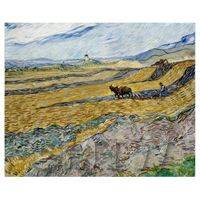 Van Gogh Painting Enclosed Field With Ploughman