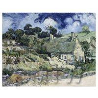 Van Gogh Painting Thatched Cottages at Cordeville