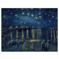 Van Gogh Painting Starry Night Over the Rhone