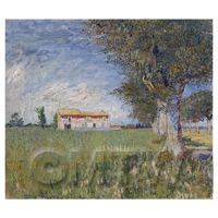 Van Gogh Painting Farmhouse in Wheatfield