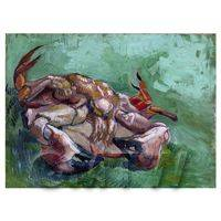 Van Gogh Painting Crab on its Back
