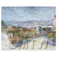 Van Gogh Painting Montmartre Near Moulin De La Galette
