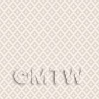 Dolls House Miniature Small Pale Beige Diamond Wallpaper