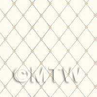 Dolls House Miniature Diamonds On Pale Cream Wallpaper