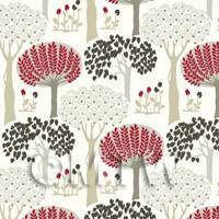 Dolls House Miniature Styalised Forest Wallpaper