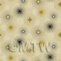Dolls House Miniature Stars And Baubles Wallpaper