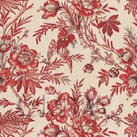 Dolls House Miniature Bunches Of Red Flowers Wallpaper