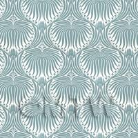 Dolls House Miniature Pale Teal Clam Shell Wallpaper